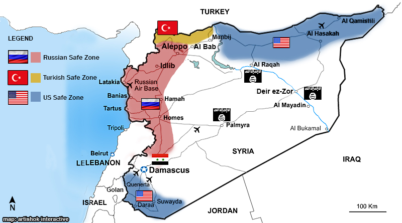 The Deescalation Zones In Syria Prospects And Challenges - Qamishli map